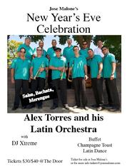Jose Malone's New Year's Eve Celebration with Alex Torres and his Latin Orchestra